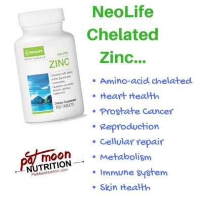 chelated zinc for cellular repair, metabolism, and a healthy immune system